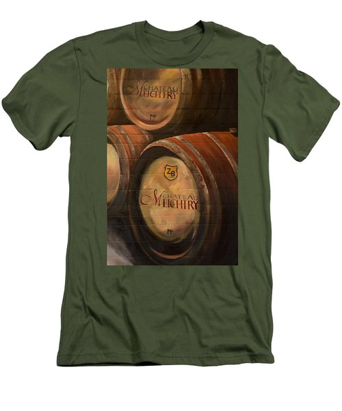 No Wine Before It's Time - Barrels-chateau Meichtry Men's T-Shirt (Slim Fit) by Jan Dappen