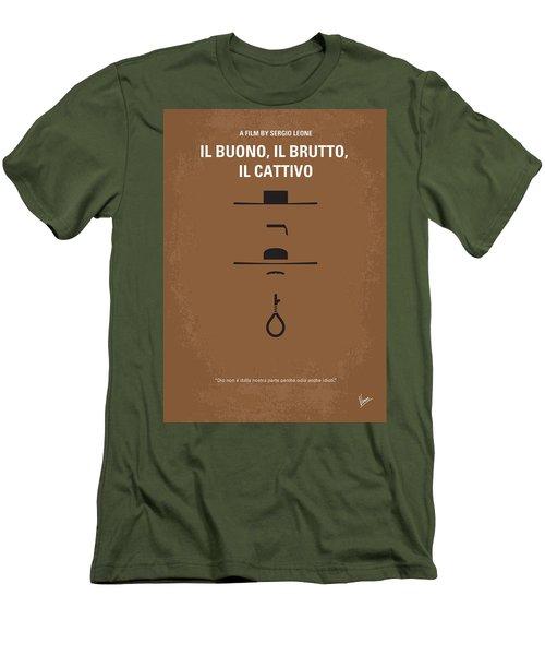 No042 My Il Buono Il Brutto Il Cattivo Minimal Movie Poster Men's T-Shirt (Athletic Fit)