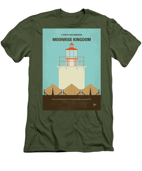 Men's T-Shirt (Slim Fit) featuring the digital art No760 My Moonrise Kingdom Minimal Movie Poster by Chungkong Art