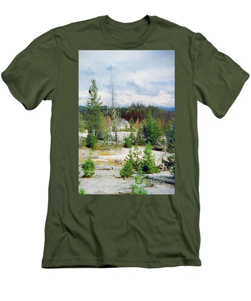 Norris Geyser Basin, Yellowstone National Park Men's T-Shirt (Athletic Fit)