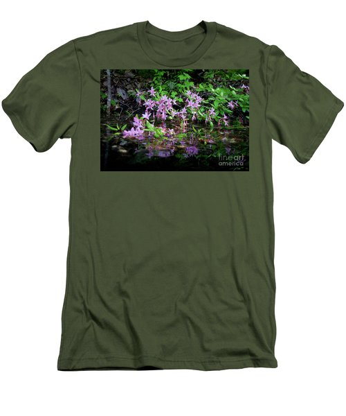 Norris Lake Floral 2 Men's T-Shirt (Slim Fit) by Douglas Stucky