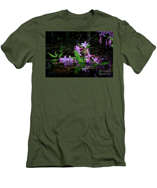 Norris Lake Floral Men's T-Shirt (Slim Fit) by Douglas Stucky