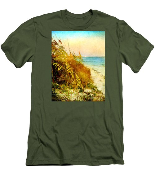 North Of River Men's T-Shirt (Slim Fit) by Linda Olsen