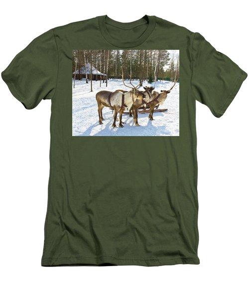 Northern Deers Men's T-Shirt (Slim Fit) by Irina Afonskaya