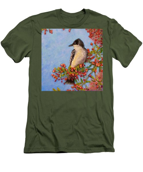 Men's T-Shirt (Slim Fit) featuring the painting Northern King Bird  by Joe Bergholm