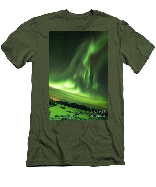 Northern Lights 5 Men's T-Shirt (Slim Fit) by Mariusz Czajkowski