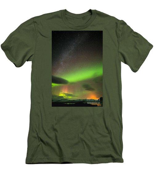 Northern Lights 8 Men's T-Shirt (Slim Fit) by Mariusz Czajkowski
