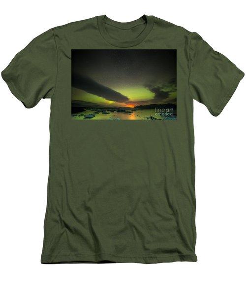 Northern Lights  Men's T-Shirt (Slim Fit) by Mariusz Czajkowski