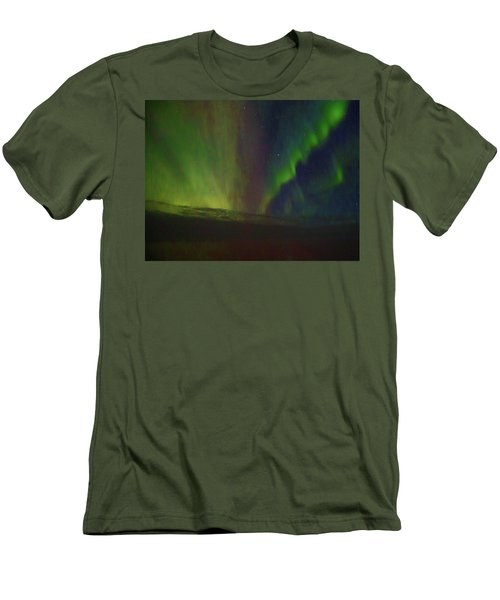 Northern Lights Or Auora Borealis Men's T-Shirt (Athletic Fit)