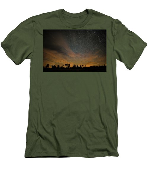Northern Sky At Night Men's T-Shirt (Slim Fit) by Phil Abrams