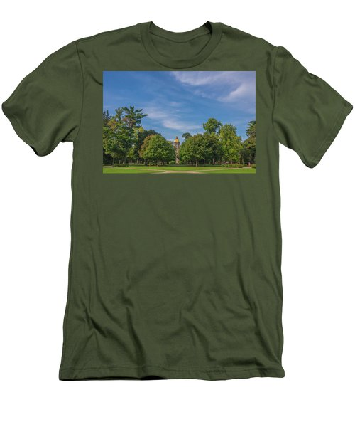 Men's T-Shirt (Slim Fit) featuring the photograph Notre Dame University 6 by David Haskett