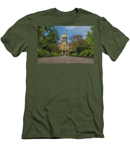 Men's T-Shirt (Slim Fit) featuring the photograph Notre Dame University Q by David Haskett