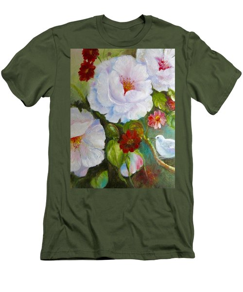 Men's T-Shirt (Slim Fit) featuring the painting Noubliable  by Patricia Schneider Mitchell