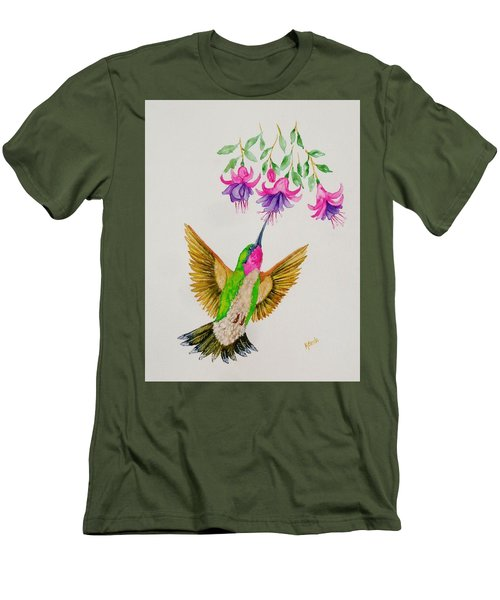 Men's T-Shirt (Slim Fit) featuring the painting Nourishment  by Katherine Young-Beck