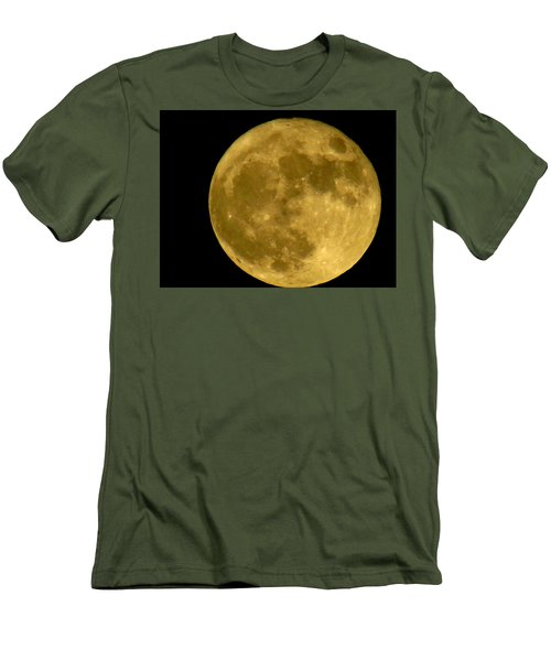 Men's T-Shirt (Slim Fit) featuring the photograph November Full Moon by Eric Switzer