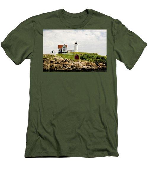 Nubble Light House  Men's T-Shirt (Slim Fit) by Betty Pauwels