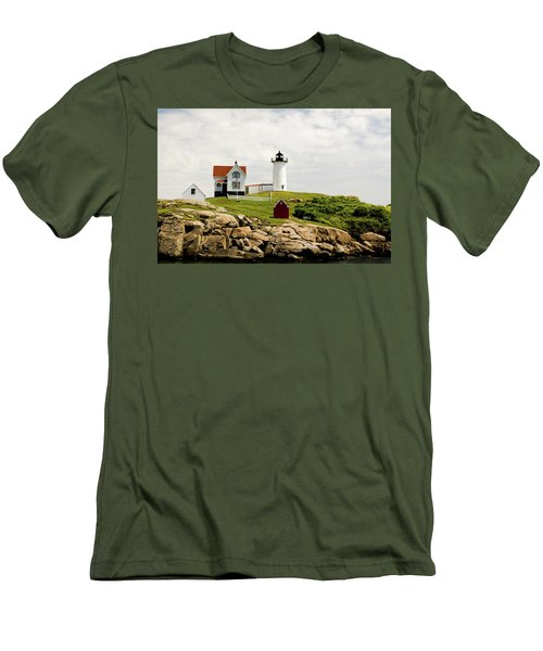 Nubble Light House  Men's T-Shirt (Athletic Fit)