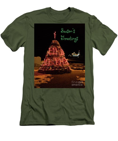 Nubble Light - Season's Greetings Men's T-Shirt (Athletic Fit)
