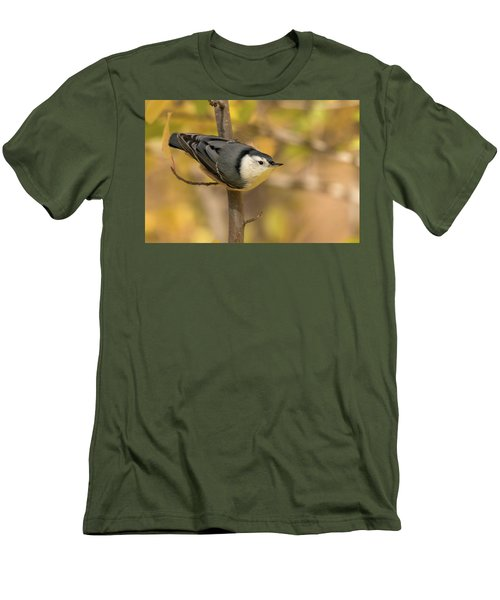 Nuthatch In Fall Men's T-Shirt (Athletic Fit)