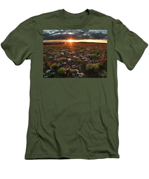 Men's T-Shirt (Slim Fit) featuring the photograph Nuttalls Linanthastrum by Leland D Howard