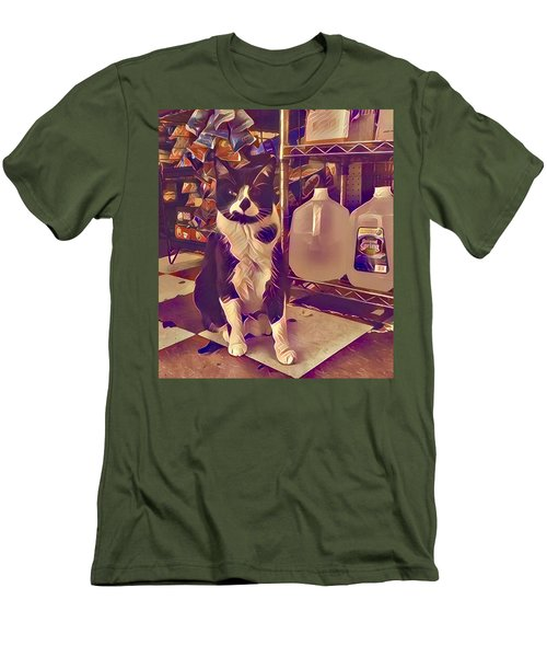 Nyc Bodega Cat Men's T-Shirt (Athletic Fit)