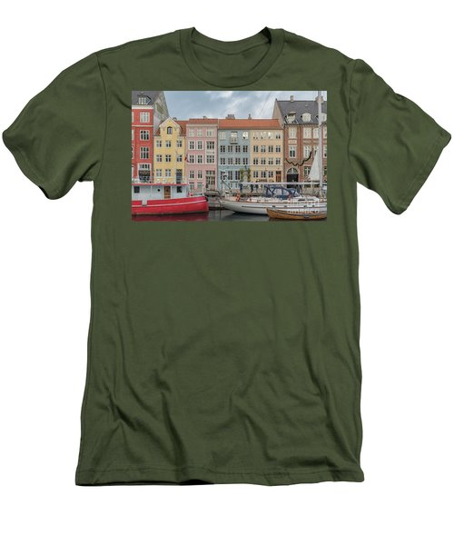 Men's T-Shirt (Slim Fit) featuring the photograph Nyhavn Waterfront In Copenhagen by Antony McAulay
