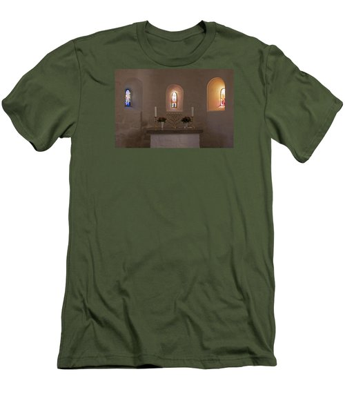 Men's T-Shirt (Slim Fit) featuring the photograph Nyker Round Church Altar by Inge Riis McDonald