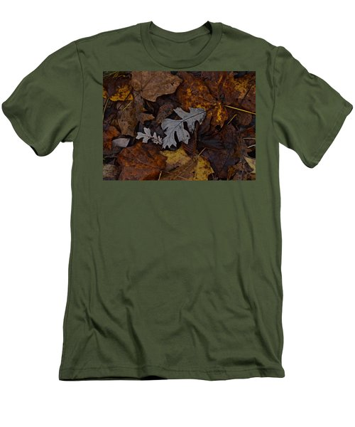 Oak And Maple Leaves Men's T-Shirt (Slim Fit) by Tim Good
