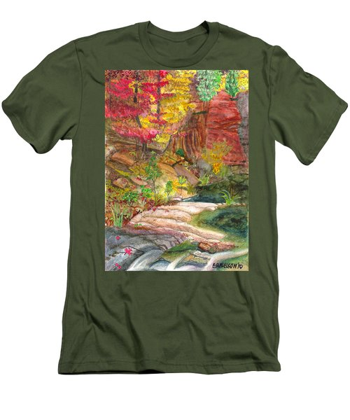 Oak Creek West Fork Men's T-Shirt (Slim Fit) by Eric Samuelson