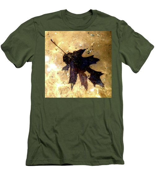 Oak Leaf Underwater Men's T-Shirt (Slim Fit) by Tara Hutton
