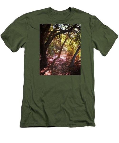Oaken Woodland 2 Men's T-Shirt (Slim Fit) by Timothy Bulone