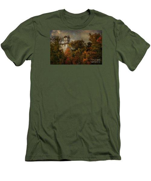 Oakhurst Water Tower Men's T-Shirt (Slim Fit) by Debra Fedchin