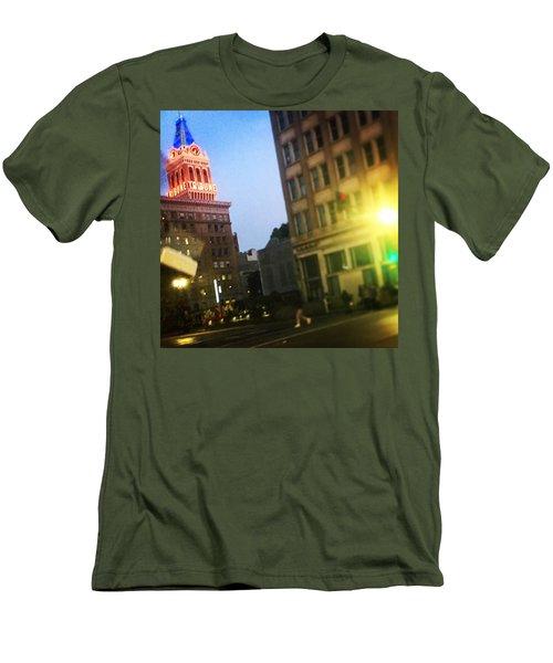 Oakland Lights Men's T-Shirt (Athletic Fit)
