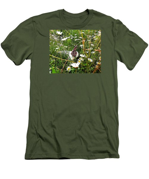 Men's T-Shirt (Slim Fit) featuring the photograph Obelix And Daisies  by Vicky Tarcau