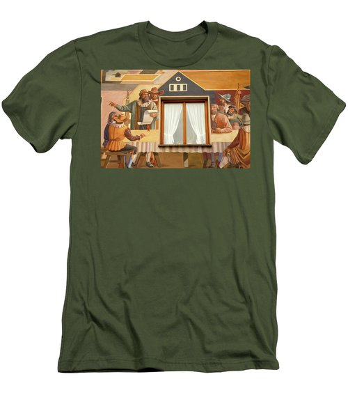 Men's T-Shirt (Slim Fit) featuring the photograph Oberammergau Frescoe by KG Thienemann