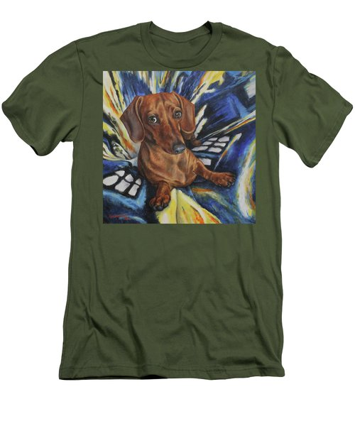 Men's T-Shirt (Slim Fit) featuring the painting Obi by Kim Lockman