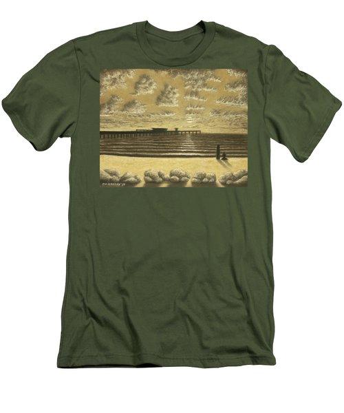 Ocean Beach Pier Sunset 01 Men's T-Shirt (Athletic Fit)