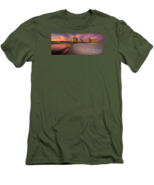 Ocean Creek Panoramic Men's T-Shirt (Slim Fit) by David Smith