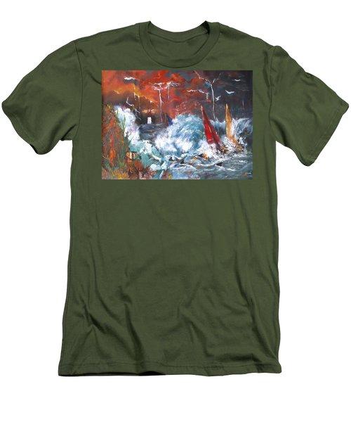 Ocean Fury Men's T-Shirt (Athletic Fit)