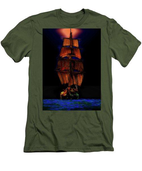 Ocean Glow Men's T-Shirt (Slim Fit) by Michael Cleere