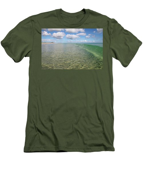 Ocean Waves And Clouds Rollin' By Men's T-Shirt (Athletic Fit)