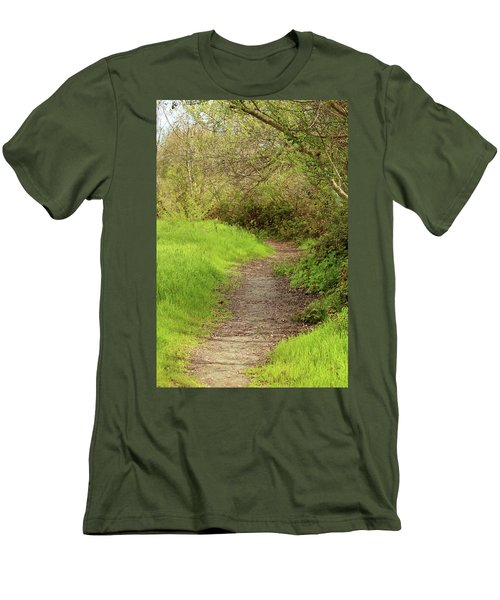 Men's T-Shirt (Slim Fit) featuring the photograph Oceano Lagoon Trail by Art Block Collections