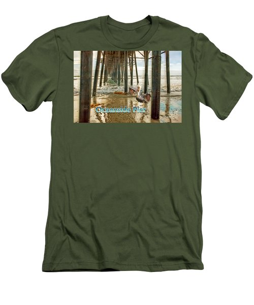 Oceanside - Pelican Under The Pier Men's T-Shirt (Athletic Fit)