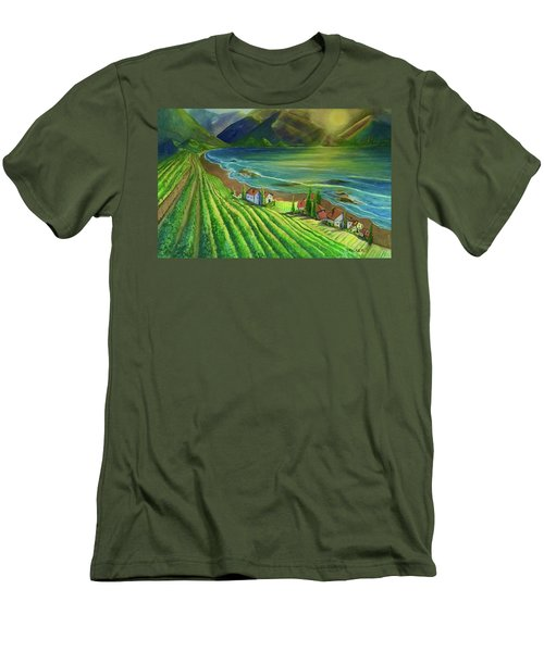 Sunset Vineyard  Men's T-Shirt (Athletic Fit)