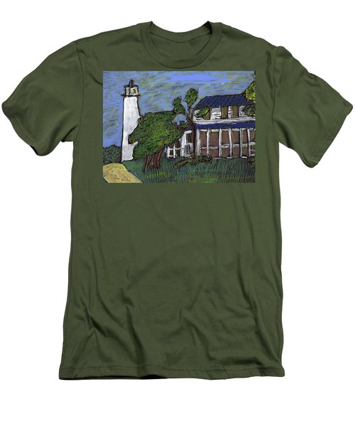 Ocracoke Island Light House Men's T-Shirt (Athletic Fit)