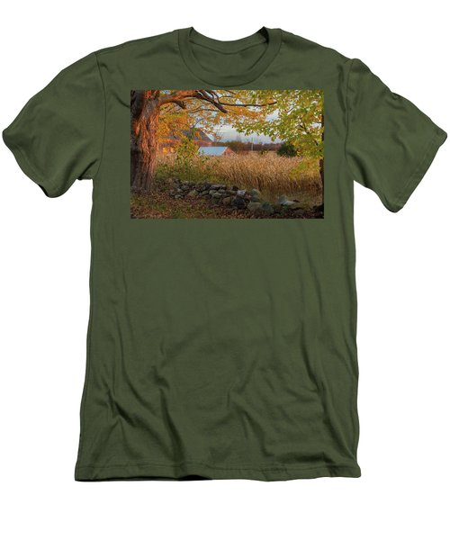 Men's T-Shirt (Slim Fit) featuring the photograph October Morning 2016 by Bill Wakeley