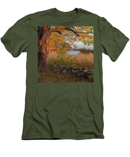 Men's T-Shirt (Slim Fit) featuring the photograph October Morning 2016 Square by Bill Wakeley