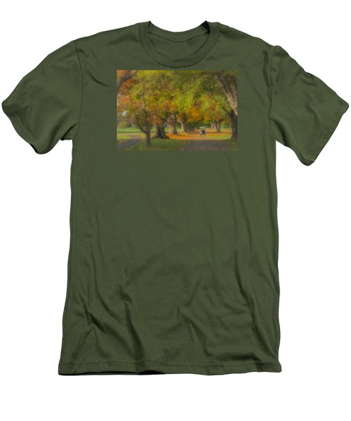 October Morning At Easton Country Club Men's T-Shirt (Athletic Fit)