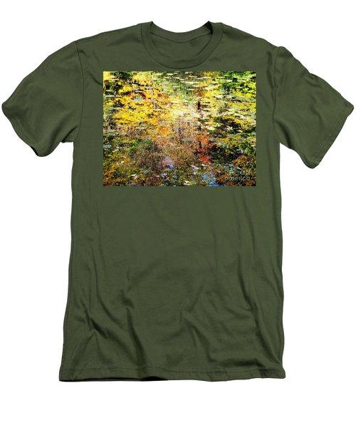 October Pond Men's T-Shirt (Slim Fit) by Melissa Stoudt