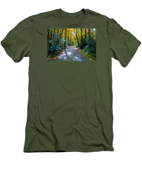 October's Path Men's T-Shirt (Slim Fit) by Allen Carroll